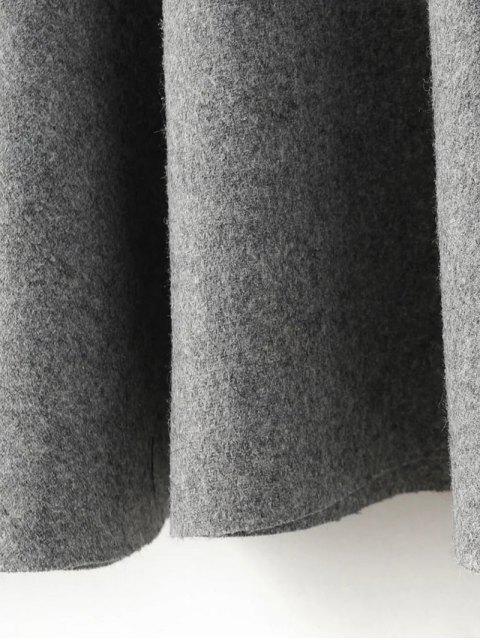 sale Sleeveless Peplum Hem Wool Blend Dress - GRAY S Mobile