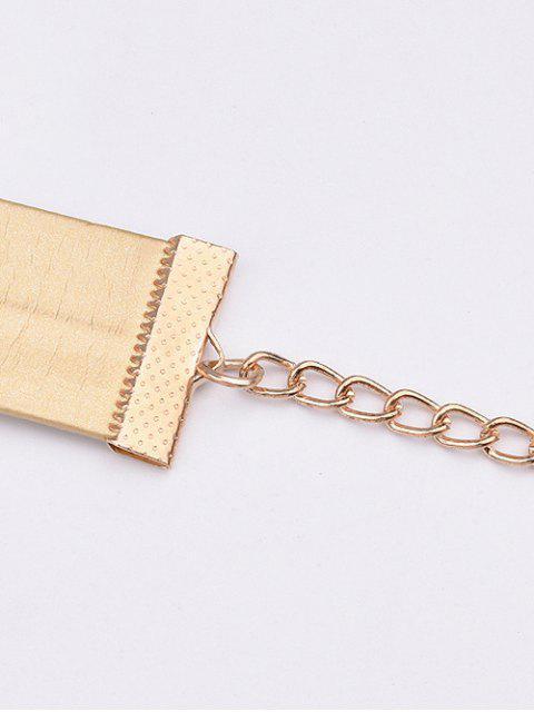 ladies PU Choker Necklace - GOLDEN  Mobile