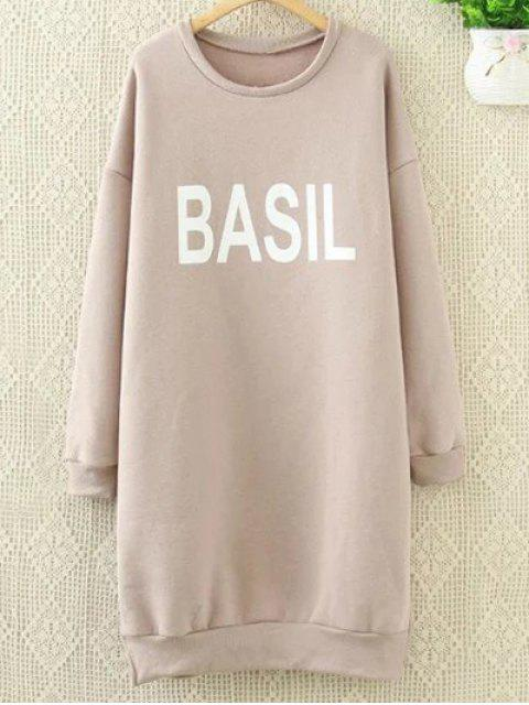 outfit Long Letter Sweatshirt - PINK 2XL Mobile