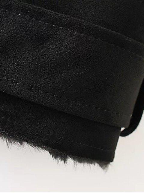 Gilet en suédine synthétique zippé - Noir S Mobile