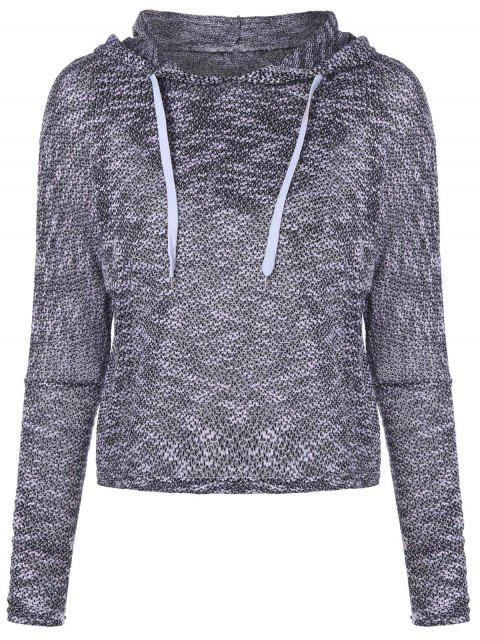 outfit Hooded Drawstring Sweater - GRAY S Mobile