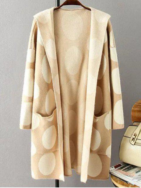 sale Polka Dot Hooded Cashmere Cardigan - PALOMINO ONE SIZE Mobile