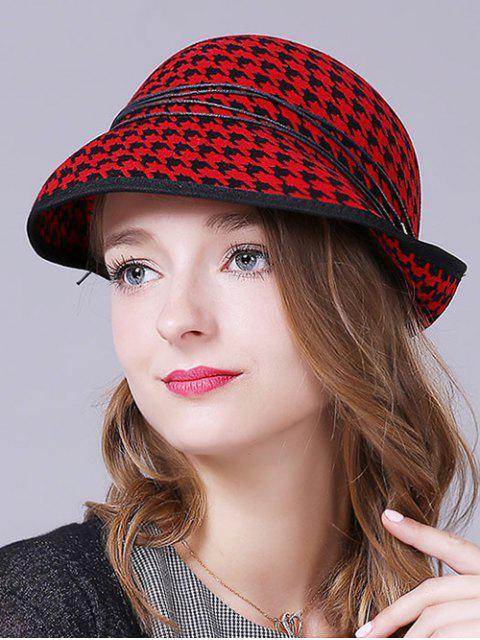 Pata de gallo en capas de la cuerda sombrero del invierno - Rojo  Mobile