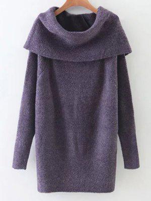 Turtleneck Stretchy Kintwear - Purple