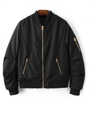 Pilot Jacket With Pockets - Black S