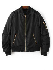 Pilot Jacket With Pockets - Black S