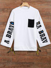 La Camiseta De La Raja Del Lado Gráfico - Blanco