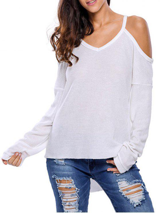 Cami Kalte Schulter Strickwaren - Weiß M