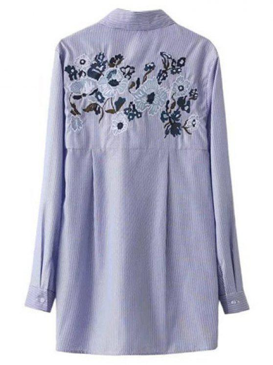 outfit Embroidered Striped Tied Shirt - STRIPE S
