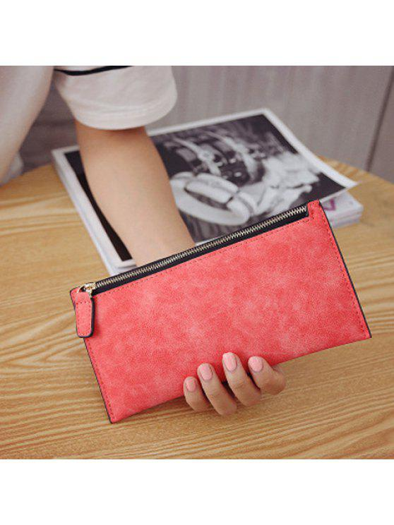 26% OFF] 2019 PU Leather Zip Up Coin Purse