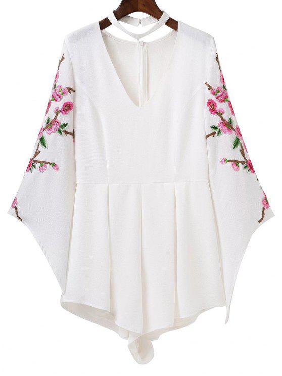 Manteau brodé - Blanc S