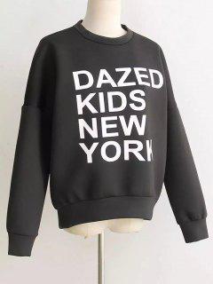 Space Cotton Graphic Sweatshirt - Black S