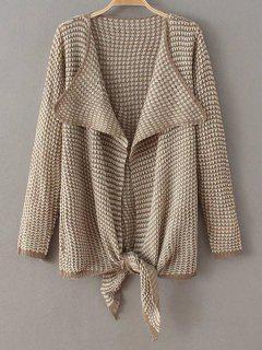 Jacquard Asymmetric Cardigan - Khaki