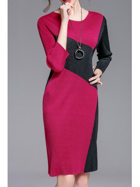 shops Jewel Neck Color Block Sheath Dress - TUTTI FRUTTI ONE SIZE Mobile