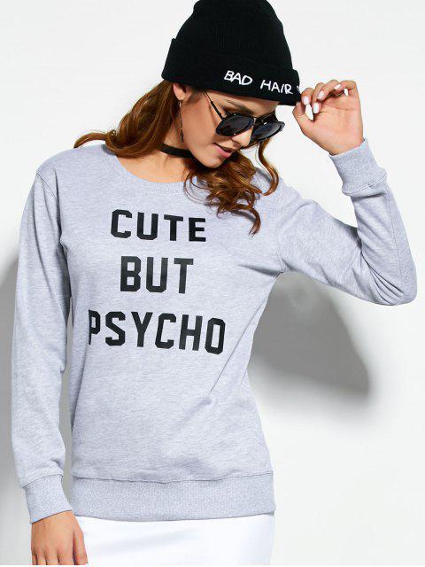 Sweatshirt Mignon Mais Psycho - Gris S Mobile