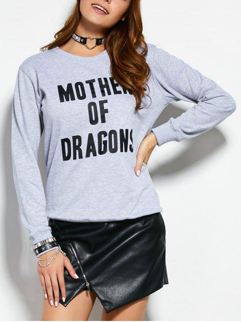 la camiseta de texto - Gris M Mobile