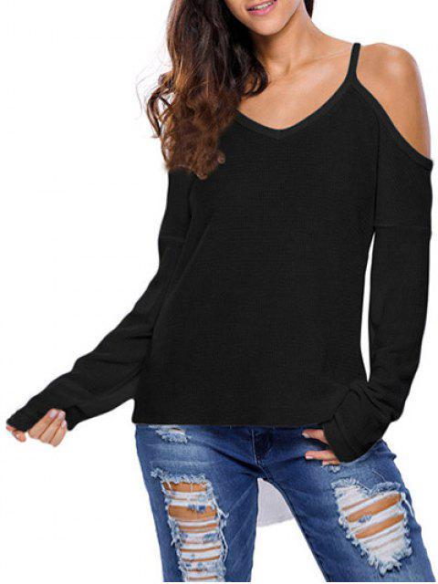fancy Cami Cold Shoulder Knitwear - BLACK S Mobile