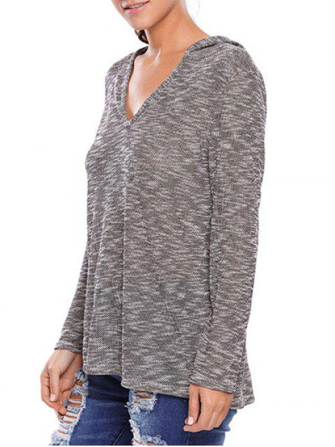 outfit Heathered Hooded Knitwear - GRAY M Mobile