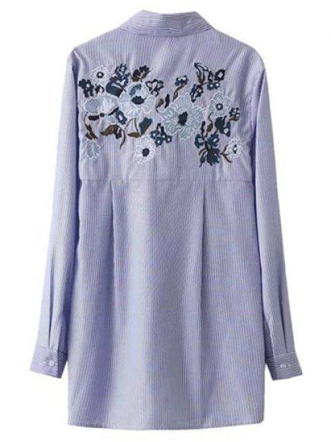 outfit Embroidered Striped Tied Shirt - STRIPE S Mobile