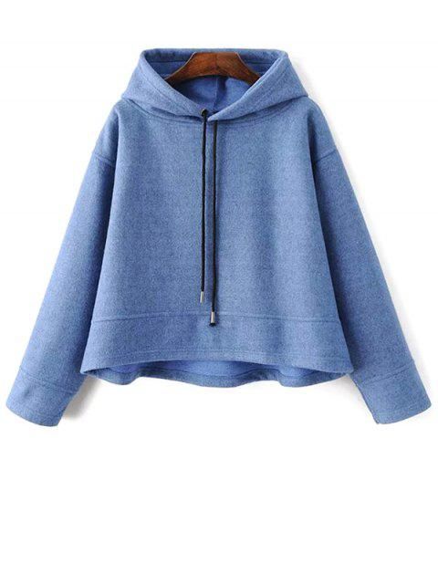 shops Loose Drawstring Trapeze Hoodie - LIGHT BLUE S Mobile