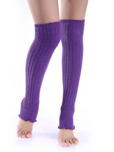 Jambières en tricot - Pourpre  Mobile