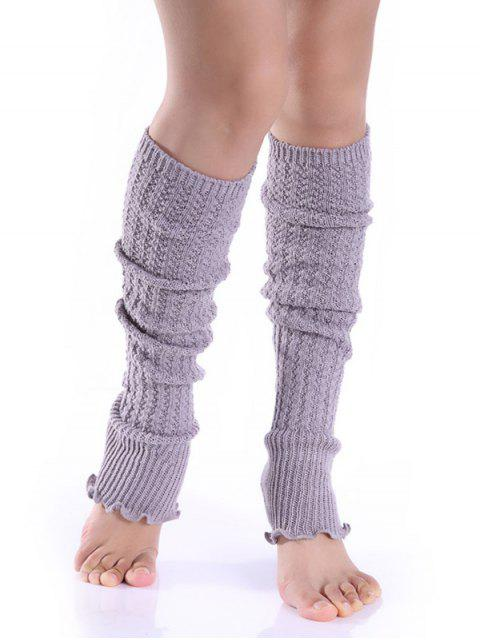 fashion Cable Knitted Leg Warmers -   Mobile