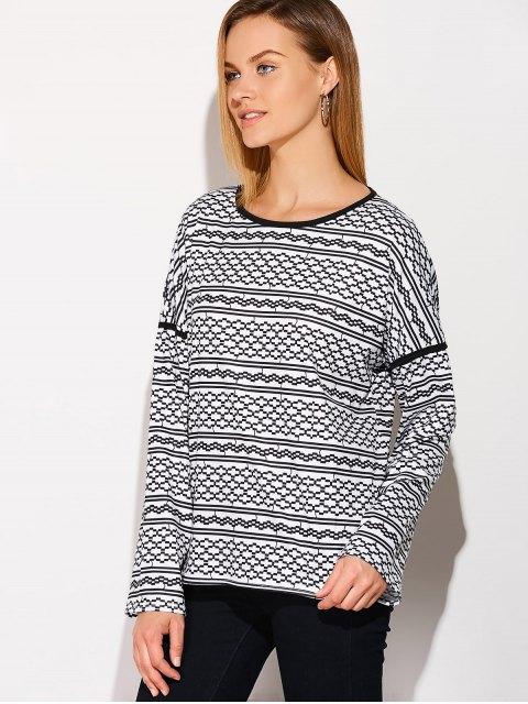 sale Printed Drop Shoulder T-Shirt - BLACK XL Mobile