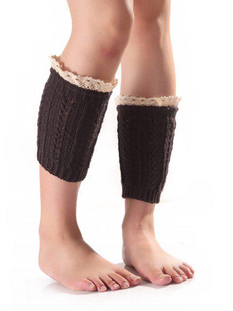unique Lace Edge Wheat Knit Boot Cuffs -   Mobile