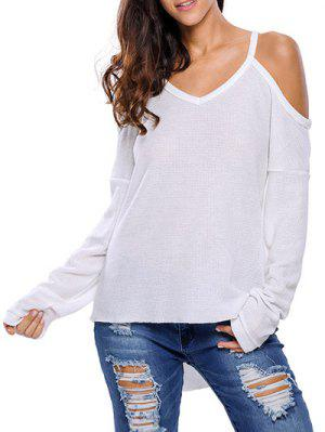 Cami Cold Shoulder Knitwear - White M