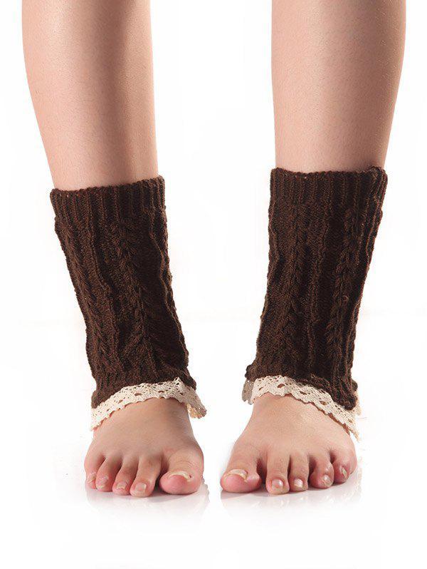 Lace Edge Wheat Knit Boot Cuffs 200533805