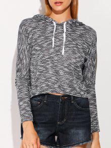Pullover Drawstring Hoodie - Black L