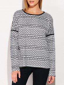 Printed Drop Shoulder T-Shirt - Black Xl