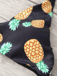 b3f9abbeb7 36% OFF] 2019 Stringy Pineapple Print Cute Bathing Suit In BLACK | ZAFUL