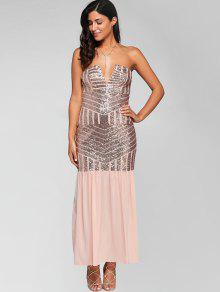 adf484cd Sparkly Sequins Bandeau Prom Dress; Sparkly Sequins Bandeau Prom Dress ...
