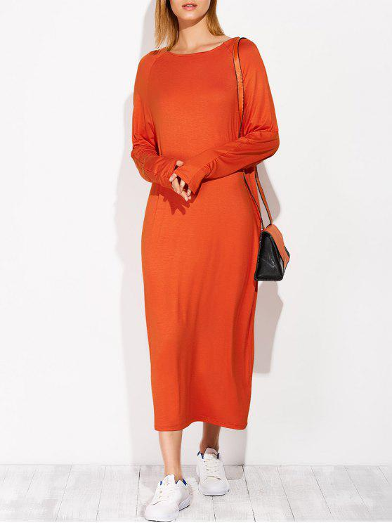women's Modal Lounge Midi Dress With Sleeves - JACINTH ONE SIZE