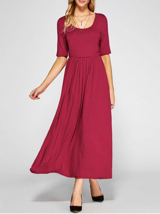 Vestido Altura Cintura Plisado Corte A - Rojo XL