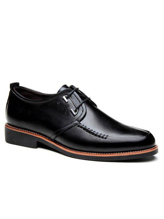 بو الجلود خياطة أحذية رسمية - أسود 43