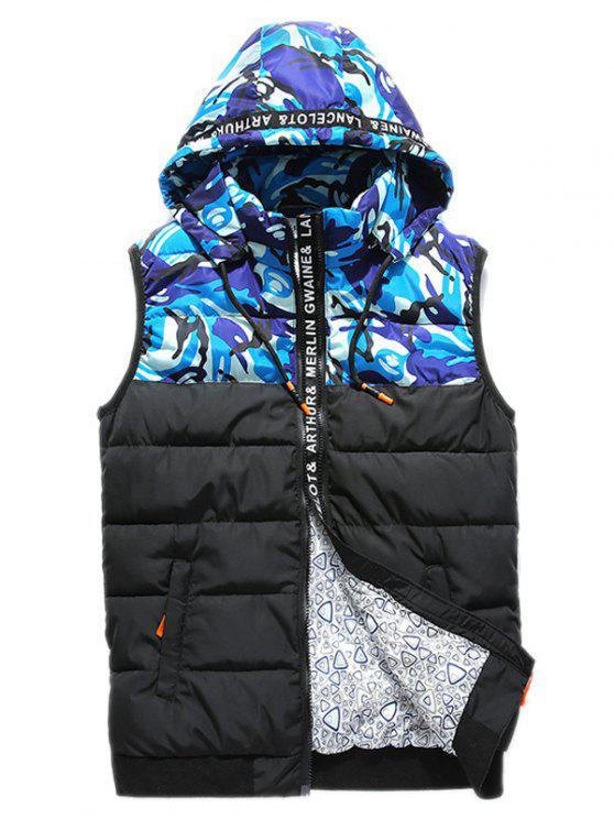 معطف الصدرية بسحاب كامو - أزرق 2XL