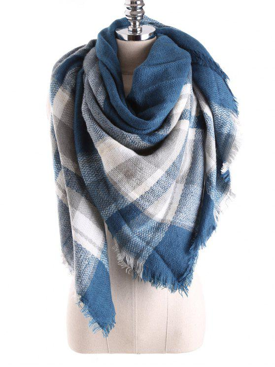 affordable Tartan Plaid Blanket Shawl Scarf - TURQUOISE