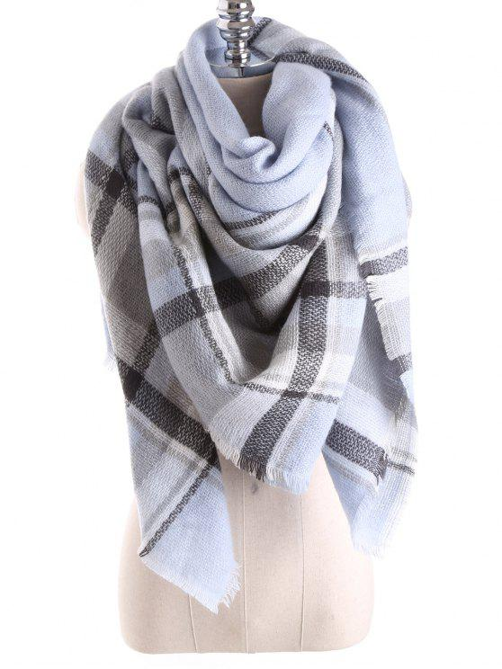 hot Tartan Plaid Blanket Shawl Scarf - CLOUDY