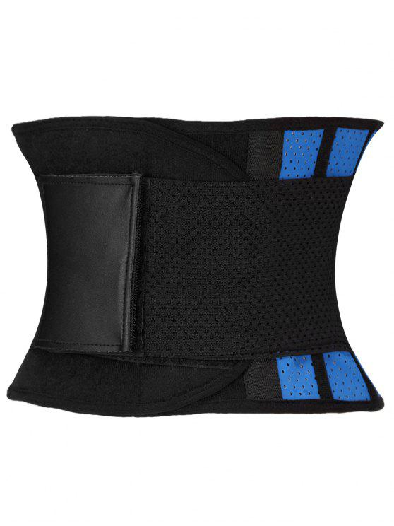 buy Stretchy Waist Training Corset - BLUE AND BLACK 2XL