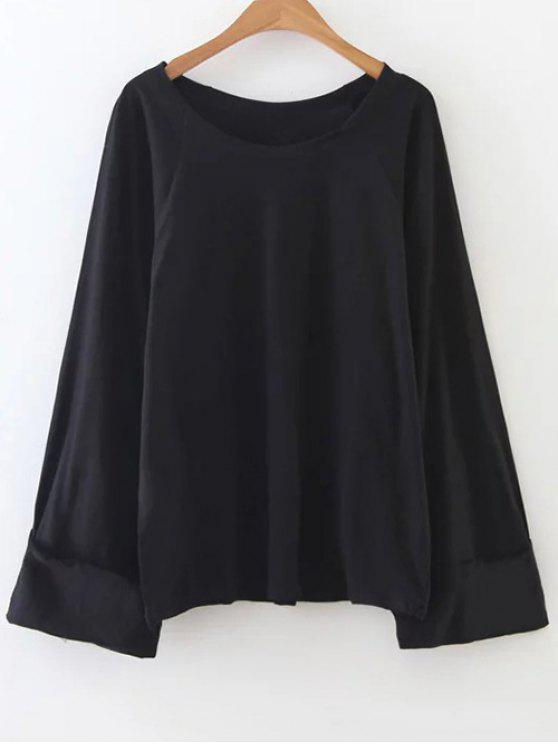 shops Scoop Neck Tunic Tee - BLACK ONE SIZE