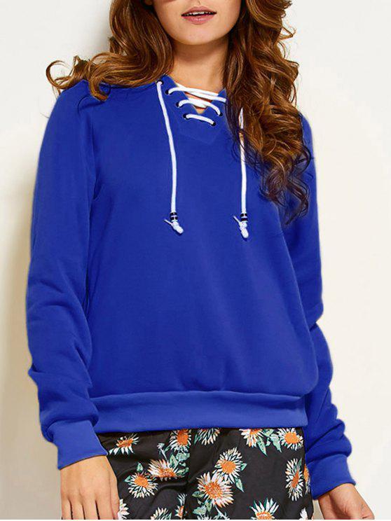 Ate para arriba camiseta de manga raglán - Azul S