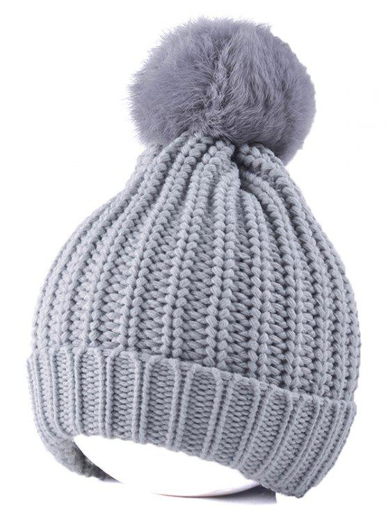 19 Off 2019 Handmade Crochet Pompom Beanie Hat In Gray Zaful