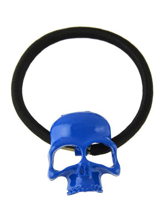 chic Vintage Skull Elatic Hair Band - BLUE