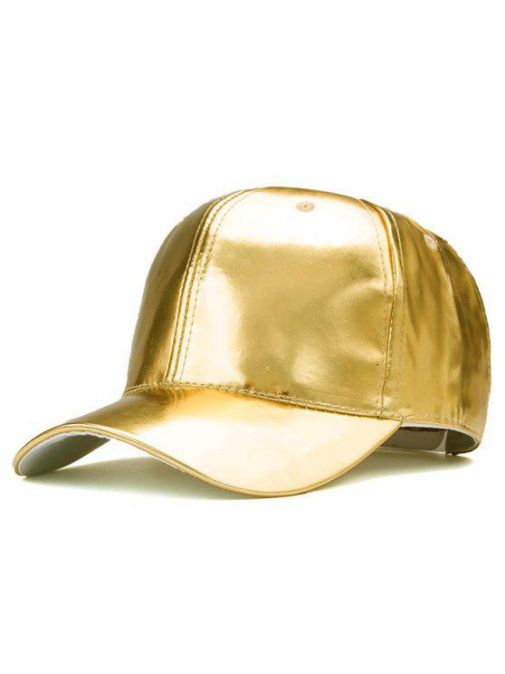 في الهواء الطلق على نحو سلس بو الجلود قبعة بيسبول - ذهبي