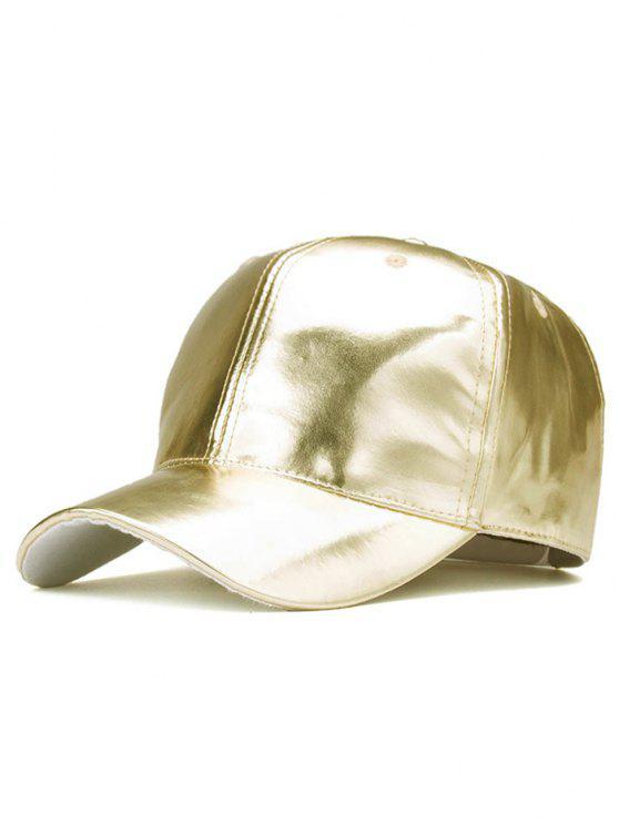 Outdoor de couro liso PU chapéu de basebol - Champanhe