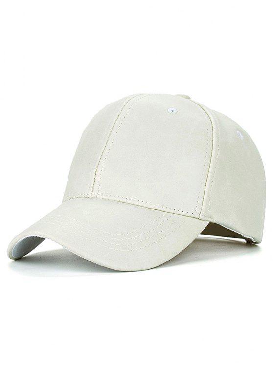 Casual cuero de la PU del sombrero de béisbol - Beis