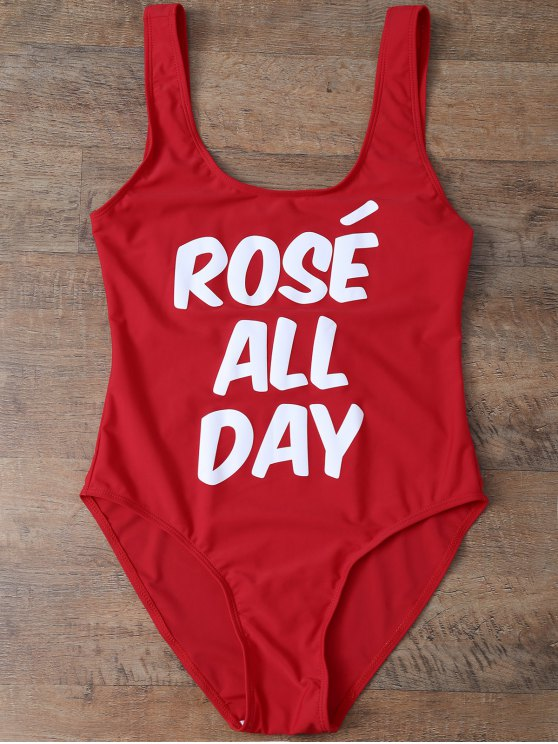 Rose All Day مايوه - أحمر S