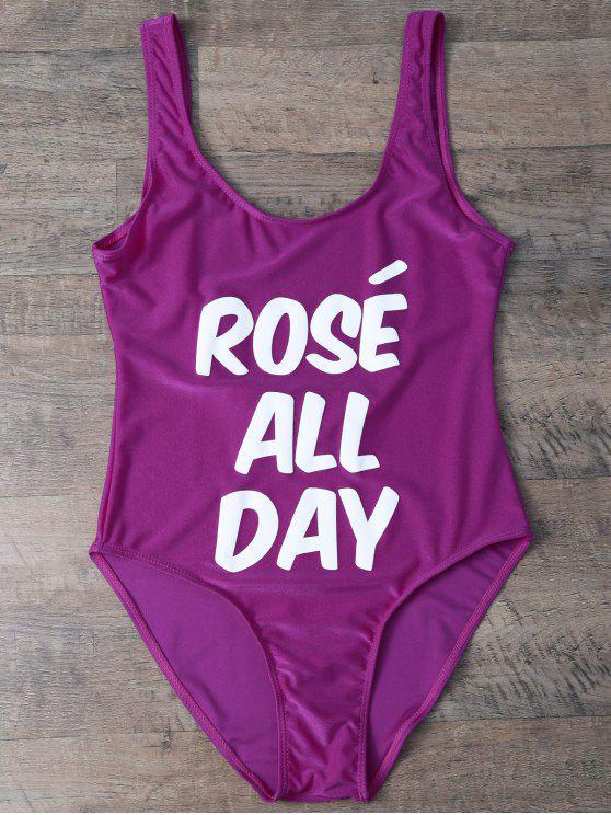 Bañador con Texto de ROSÉ ALL DAY - Rosa Violeta M